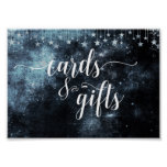 Star Struck Watercolor Night Wedding Cards & Gifts Poster