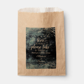 Star Struck Watercolor Night Wedding Love is Sweet Favour Bag