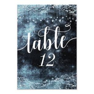Star Struck Watercolor Sky Wedding Table Numbers