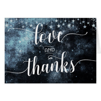 Star Struck Watercolor Wedding Thank You Photo Card