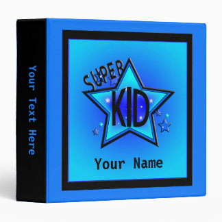 Star Super Kid Custom Boy Blue Binder