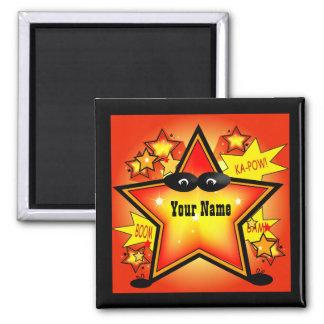 Star Superhero Kid Name Custom Magnet