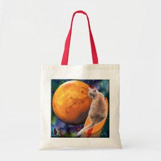 Star Surfer-Cat Chili Pepper Budget Tote Bag