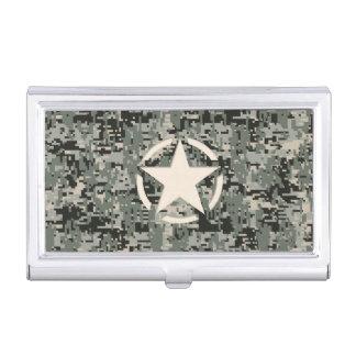 Star Symbol Pixel Digital Camouflage Business Card Holder