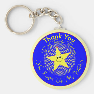 Star Teacher Thank You from Student Keychain