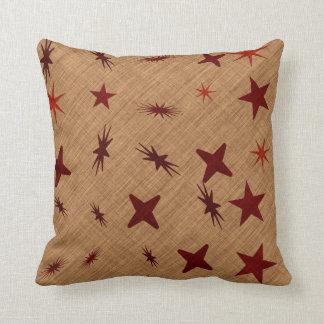 Star tent throw pillow
