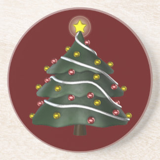 Star-topped Christmas Tree Coaster