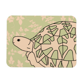 Star Tortoise Magnet (foliage green)
