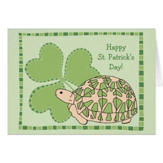 Star Tortoise St Patrick's Day Card