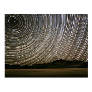 Star Trail at Night | California, Death Valley Postcard