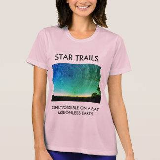 Star Trails Flat Earth T-Shirt
