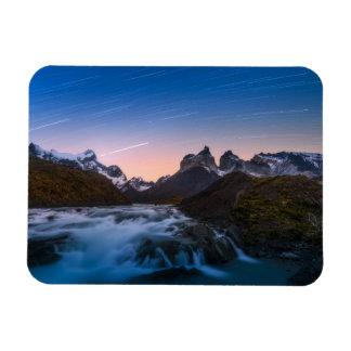 Star Trails Over Torres Del Paine Rectangular Photo Magnet