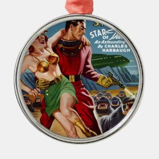 Star Treasure Silver-Colored Round Ornament