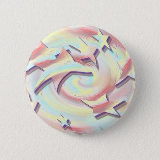 Star Twirl 2 Inch Round Button