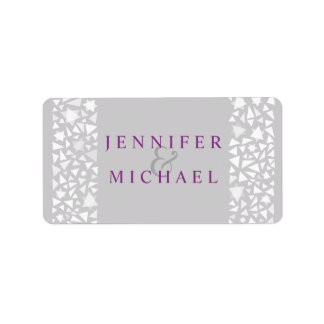 STAR WALL Jewish Wedding Invitation Address Label