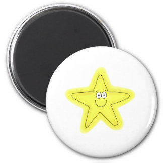 Star whimsical happy face cute magnet