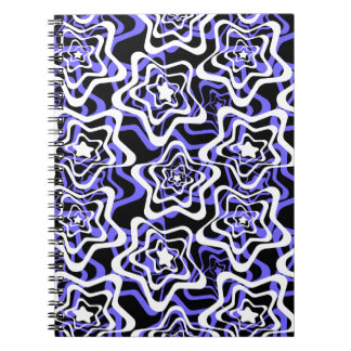 Star white ,blue,black 2 notebooks
