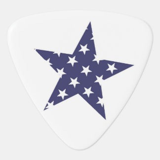 Star with stars pattern guitar pick