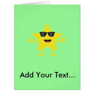 star with sunglasses big greeting card