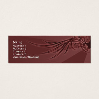 Star with Wings Mini Business Card