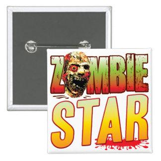 Star Zombie Head Badge