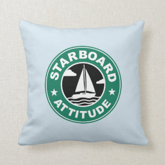 Starboard Attitude Boat Sailing Maritime Throw Pillow