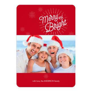 Starburst 1 carte rouge de vacances de photo carton d'invitation  12,7 cm x 17,78 cm