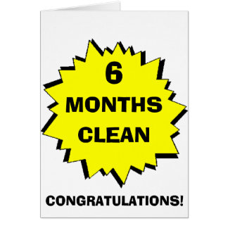Starburst 6 Months clean Card