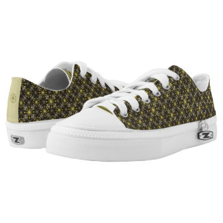 Starburst and Lines Mid Century Pattern Earth Hues Low-Top Sneakers