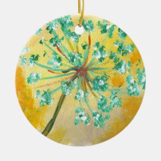 starburst ceramic ornament