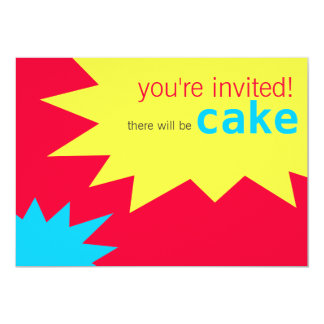 Starburst Child's Birthday Party Invitation