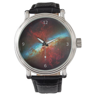Starburst Cigar Galaxy, Hubble outer space picture Wrist Watches