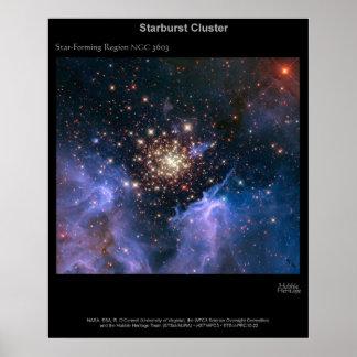 Starburst Cluster NGC 3603 Poster
