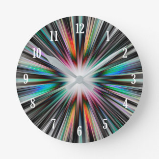 Starburst explosion pattern round clock