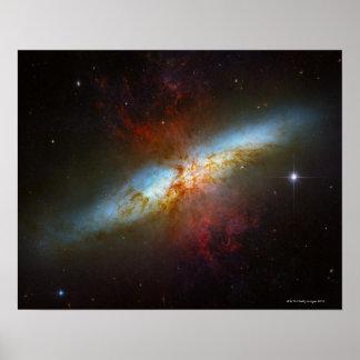 Starburst Galaxy M82 Poster