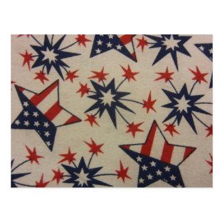 Starburst in Red, White & Blue Postcard