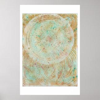 starburst, painting, multi-color, mandala poster
