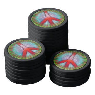 Starburst Peace Sign Poker Chips