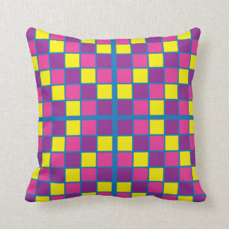 Starburst Purple and Gold Tile Pillow