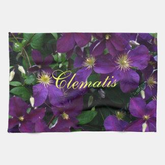 Starburst Purple Clematis Hand Towel