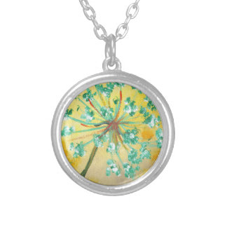 starburst silver plated necklace