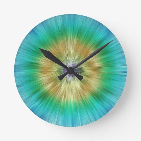 Starburst Tie Dye Wall Clocks