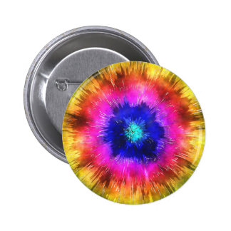 Starburst Tie Dye Watercolor 2 Inch Round Button