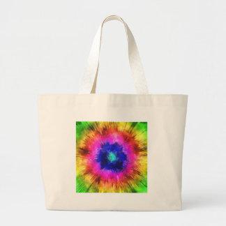 Starburst Tie Dye Watercolor Large Tote Bag
