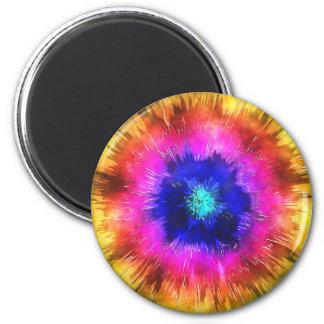 Starburst Tie Dye Watercolor Magnet