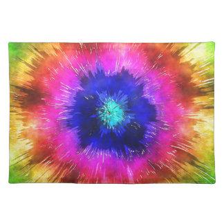 Starburst Tie Dye Watercolor Placemat