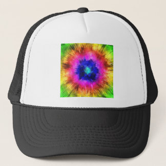 Starburst Tie Dye Watercolor Trucker Hat