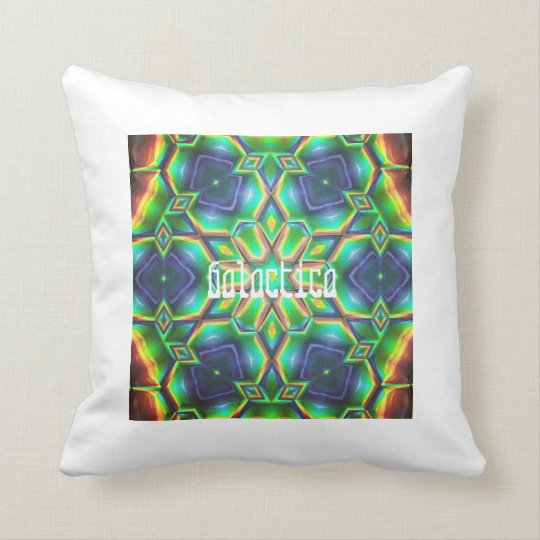 Starcrossed /Galactica Doublesided Kaleidoscope Throw Pillow