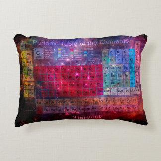Stardust Periodic Table Accent Pillow