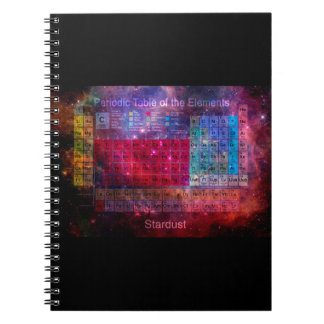 Stardust Periodic Table Notebook